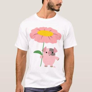 Guarro con una camiseta (rosada) del adulto de los