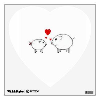 Guarro en amor vinilo decorativo