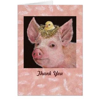Guarro gracias notecard tarjeta pequeña