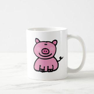 Guarro rosado taza básica blanca