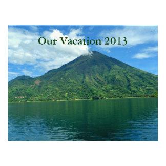 Guatamalan Island and Lake Scrapbooking Paper Letterhead