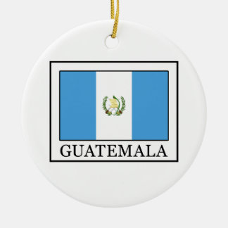 Guatemala Adorno Navideño Redondo De Cerámica