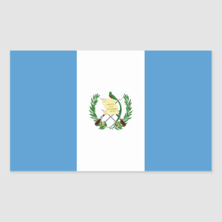 Guatemala/bandera guatemalteca rectangular pegatinas