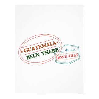 Guatemala Been There Done That Letterhead