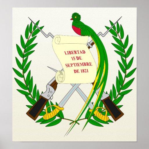 Guatemala Coat of Arms detail Poster