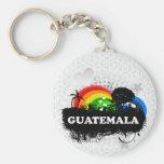 Guatemala con sabor a fruta linda llaveros personalizados