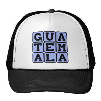 Guatemala, Country in Central America Mesh Hats