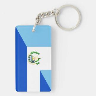guatemala el salvador half flag country symbol keychain