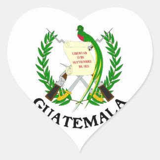 GUATEMALA - emblem/flag/coat of arms/symbol Heart Sticker