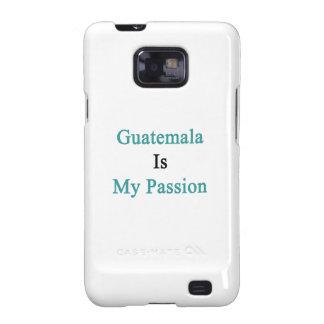 Guatemala es mi pasión samsung galaxy SII carcasa