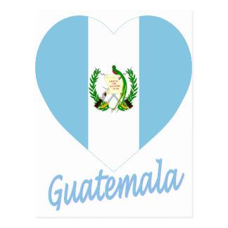 Guatemala Flag Heart Postcard