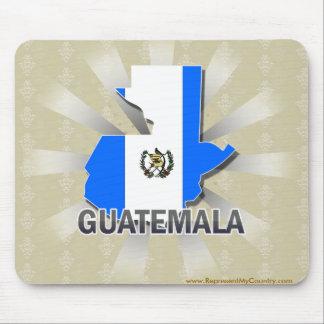 Guatemala Flag Map 2.0 Mouse Pad