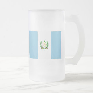 guatemala frosted glass beer mug