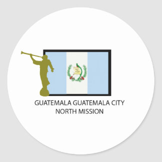 GUATEMALA GUATEMALA CITY NORTH MISSION LDS CTR ROUND STICKER