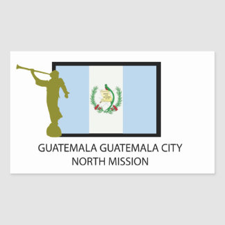 GUATEMALA GUATEMALA CITY NORTH MISSION LDS CTR RECTANGULAR STICKER