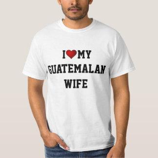 GUATEMALA:  I LOVE MY GUATEMALAN WIFE T-Shirt