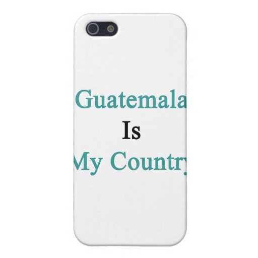 Guatemala Is My Country iPhone 5/5S Cover
