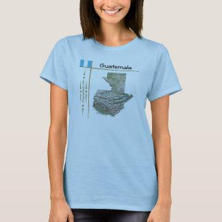 Guatemala Map + Flag + Title T-Shirt