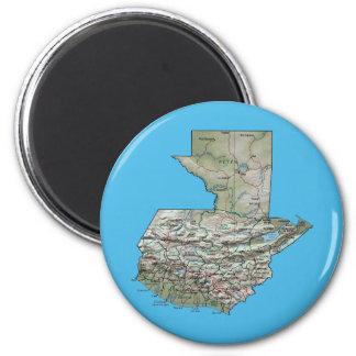 Guatemala Map Magnet