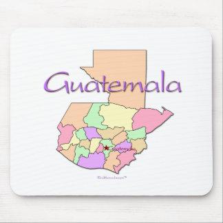 Guatemala Map Mouse Pad