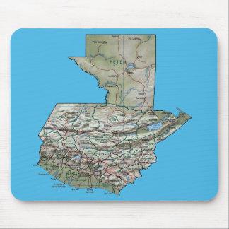 Guatemala Map Mousepad