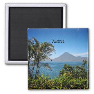Guatemala, Nature's Beautiful Landscape 2 Inch Square Magnet