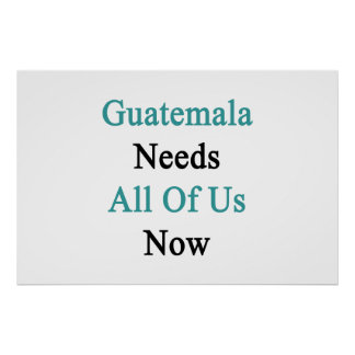 Guatemala Needs All Of Us Now Poster