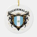 Guatemala Double-Sided Ceramic Round Christmas Ornament