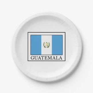 Guatemala Paper Plate