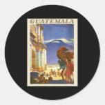 Guatemala Pegatina Redonda