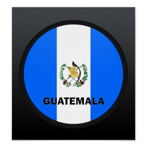 Guatemala Roundel quality Flag Posters