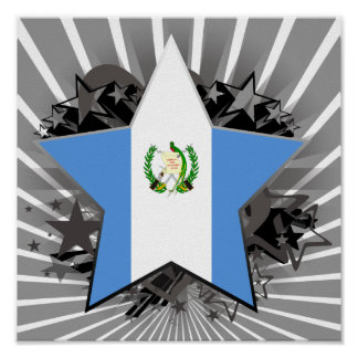 Guatemala Star Posters