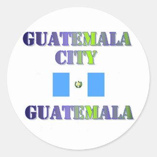 Guatemala town center round sticker