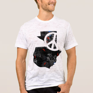Guatemala Trendy Peace Sign with Guatemalan map T-Shirt