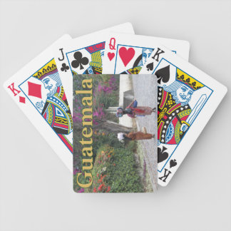 Guatemala Women, Woman, Flowers, Traditional Dress Bicycle Playing Cards