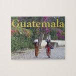 Guatemala Women, Woman, Flowers, Traditional Dress Jigsaw Puzzle