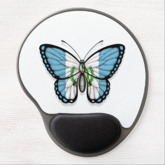 Guatemalan Butterfly Flag Gel Mouse Pad