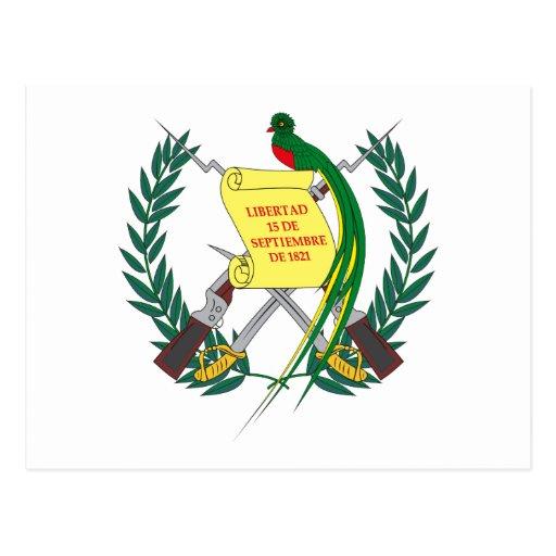 Guatemalan Coat of Arms Postcard