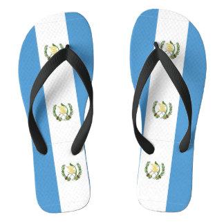 Guatemalan flag flip flops