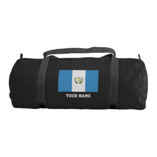 Guatemalan flag gym duffle bag