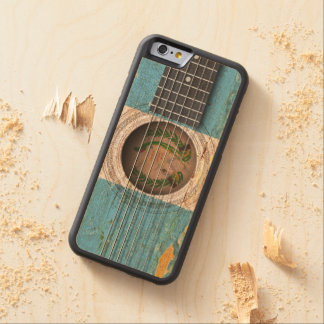 Guatemalan Flag on Old Acoustic Guitar Carved® Maple iPhone 6 Bumper