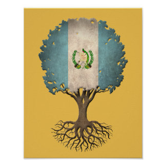 Guatemalan Flag Tree of Life Customizable Poster