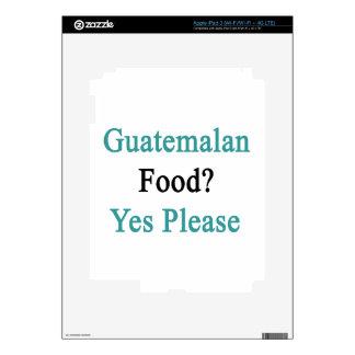 Guatemalan Food Yes Please Skin For iPad 3