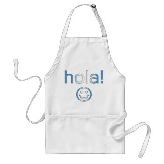 Guatemalan Gifts : Hello / Hola + Smiley Face Adult Apron
