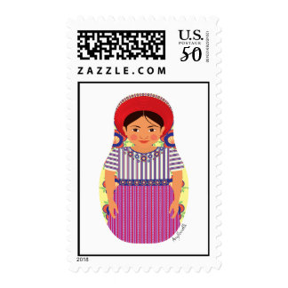 Guatemalan Girl Matryoshka Stamps