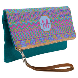 Guatemalan Tribal Monogram Fun Fashion Must Have Clutch