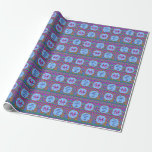 Guatemalan Tribal Monogram Fun Happy Birthday Wrapping Paper