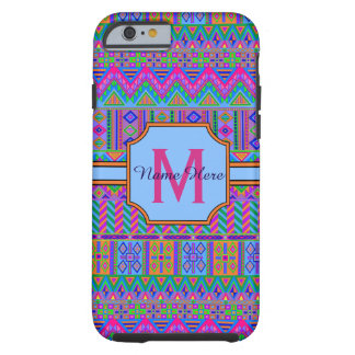 Guatemalan Tribal Monogram iphone6 Mixed Print Tough iPhone 6 Case