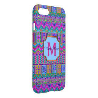 Guatemalan Tribal Monogram iphone7 Hot Pink Fun iPhone 8/7 Case