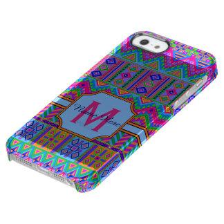 Guatemalan Tribal Monogram iphoneSE Stripes Clear iPhone SE/5/5s Case